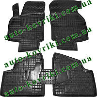 Резиновые коврики в салон Opel Astra H 2004-2009 (Avto-Gumm)