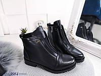 Жіночі черевики чорні, сезон зима, фото 1