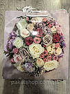 Подарочный бумажный пакет КВАДРАТ 24*24*10 см Букет, фото 2