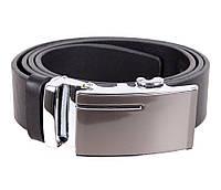 Мужской кожаный ремень Dovhani UK888-37445 120 см Черный