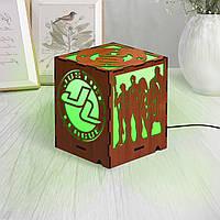 Марвел ночник Лига Справедливости Все супергерои DC Деревянный декор Ночник в форме куба Уникальные лампы 14см