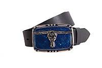 Мужской кожаный ремень Dovhani blx90268690 120 см Черный