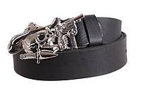 Мужской кожаный ремень Dovhani blx90300710 120 см Черный