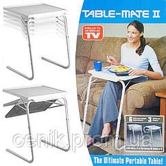 Универсальный складной стол Table Mate 2, телескопический, белый