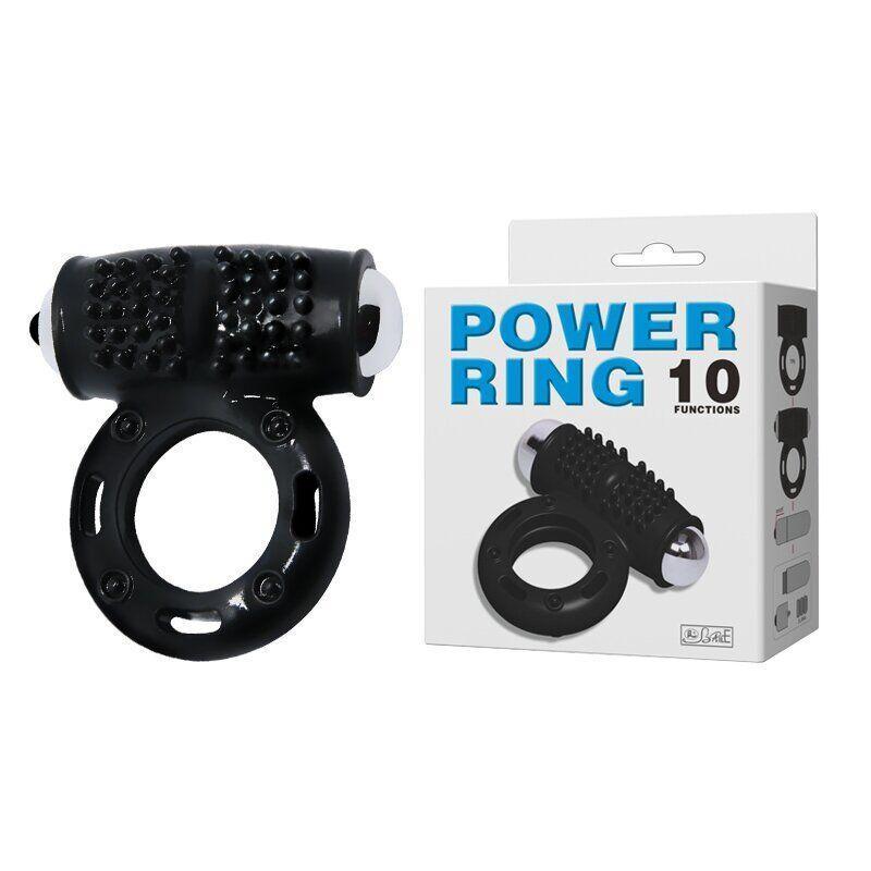 Вибро кольцо эрекционное 2,5 см Power ring 10 режимов вибрации из киберкожи. Эрекционные кольца с вибрацией