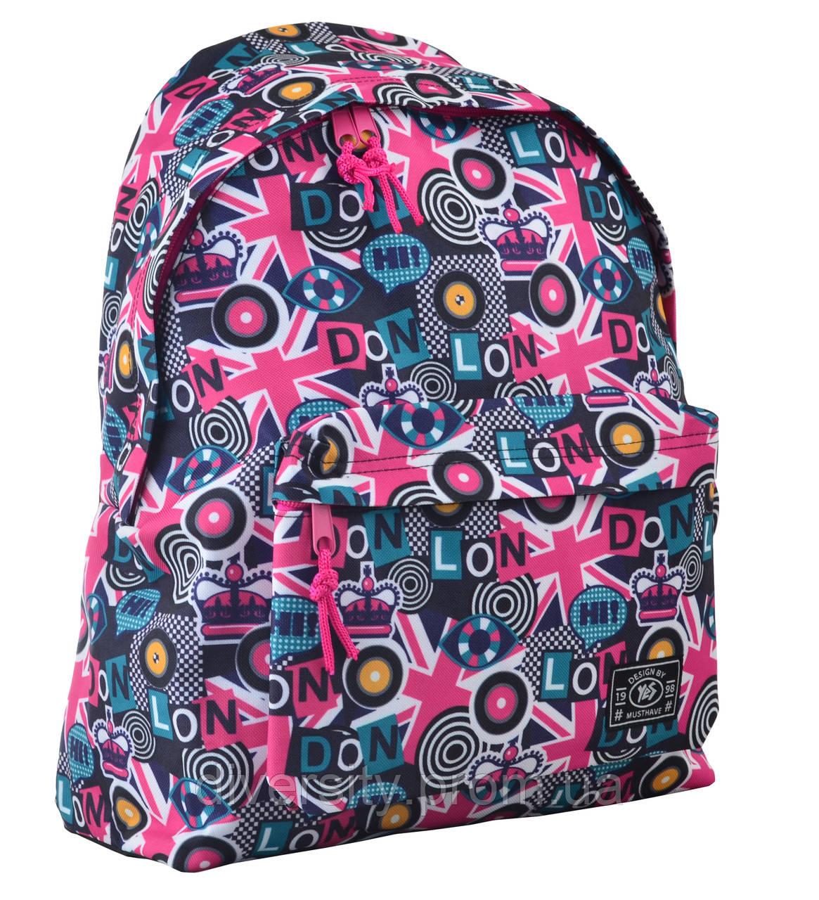 Молодежный рюкзак YES  ST-17 Crazy London, 42*32*12