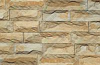 "Плитка Руст песчаник""Ополье желтое "" KLVIV ширина 6 см., лицевая сторона скол (на палете), фото 1"