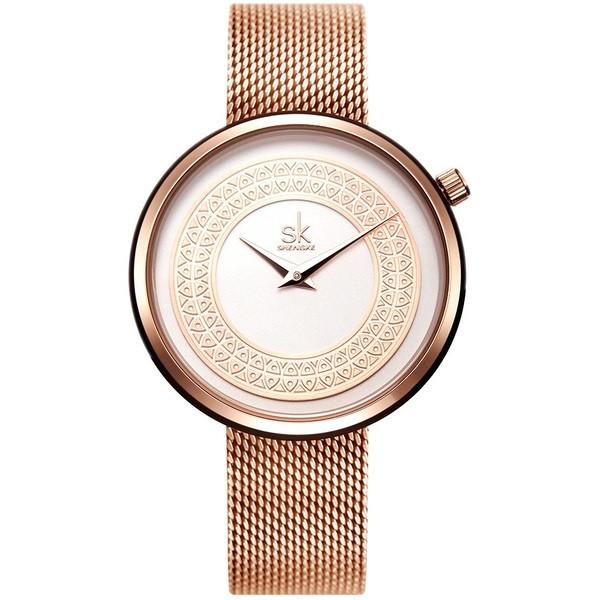 Shengke Женские часы Shengke Kuba Gold