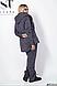 Спортивный костюм-тройка штаны, кофта и кардиган в большом размере ( черный, синий ) р. 48-50, 52-54, фото 2