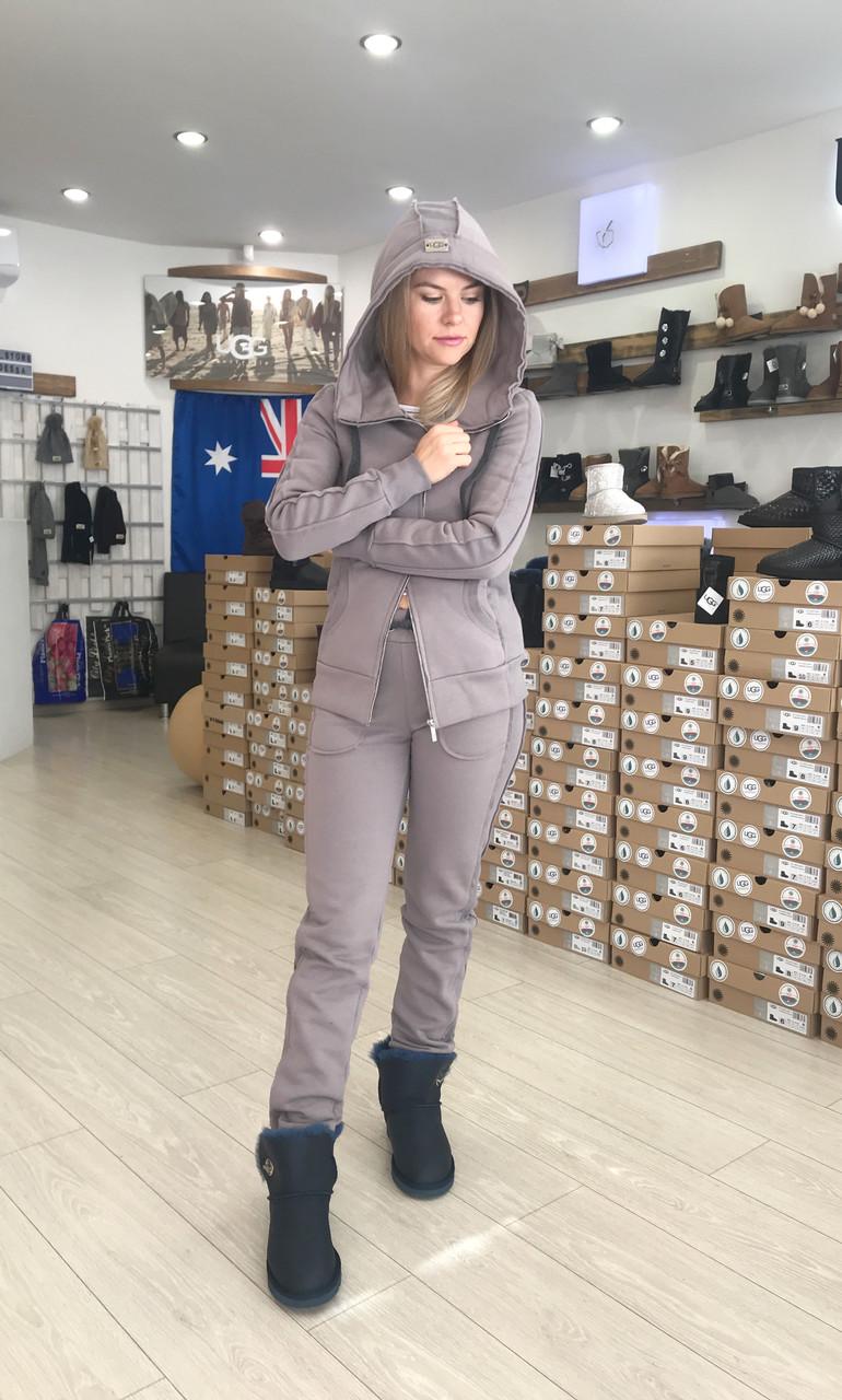 Светло-коричневый теплый женский костюм на молнии от Угг UGG Australia Zip Merino Light Brown