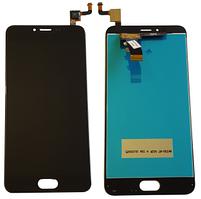 Дисплей для Meizu M5, m611a с сенсорным экраном, черный