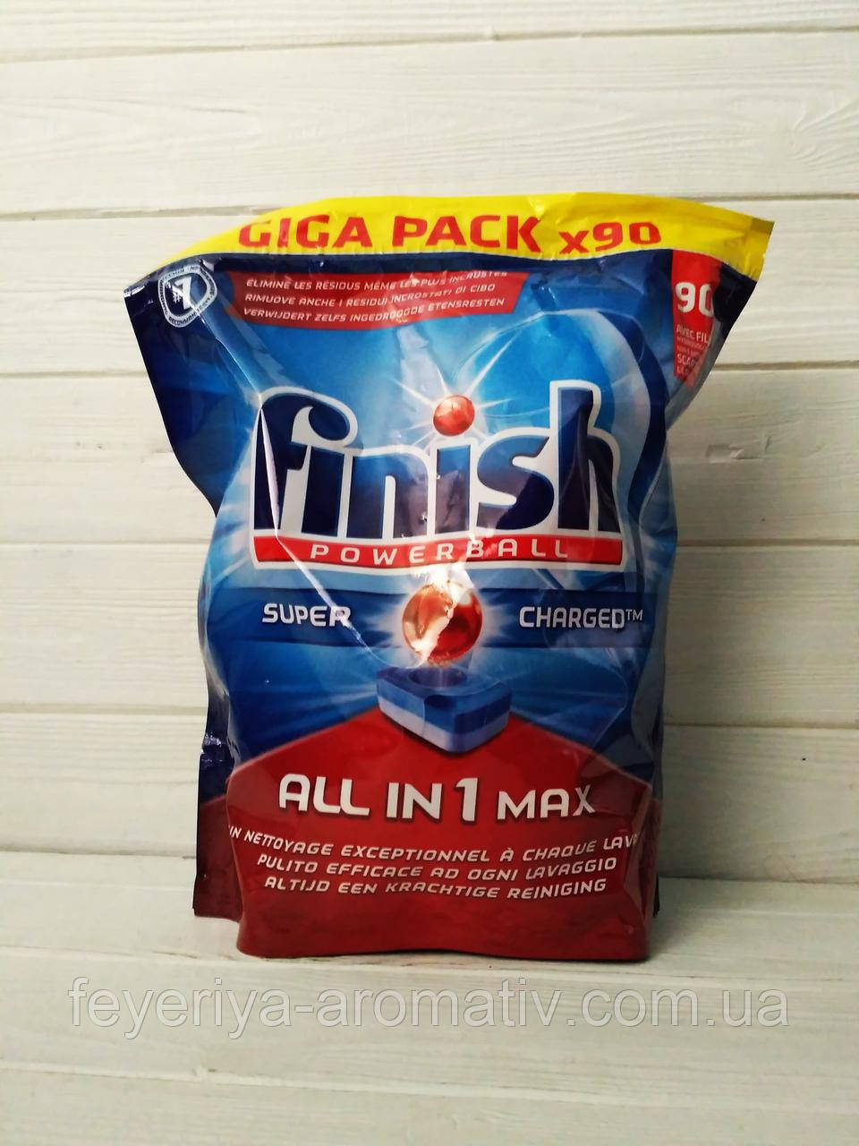 Таблетки для посудомоечной машины Finish Powerball All in1 max 90 шт.