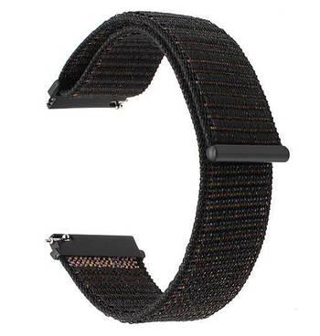 Нейлоновый ремешок Primo для часов Garmin Vivoactive 3 / Vivomove HR / Forerunner 245/645 - Black