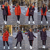 Двусторонняя куртка зимняя женская 1153 (29) или 460 ВЛ, фото 1