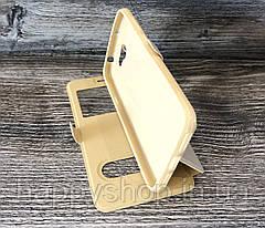 Чехол-книжка с окошком для Huawei Y5 II (CUN-U29) Золотой, фото 3