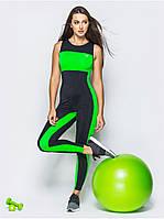Комбинезон женский для фитнеса Go Fitness black-green