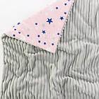 Плед и подушка со звёздами серо-розового цвета., фото 4