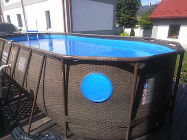 Овальный бассейн Power Steel Swim Vista 56716 - 549 х 274 х 122 см