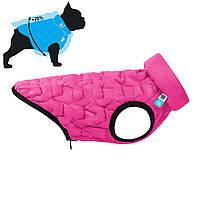 Двусторонняя курточка для собак AiryVest UNI (эластичная) L55, Розовая/черная