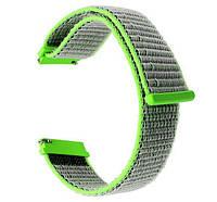 Нейлоновый ремешок Primo для часов Garmin Vivoactive 3 / Vivomove HR / Forerunner 245/645 - Green, фото 1