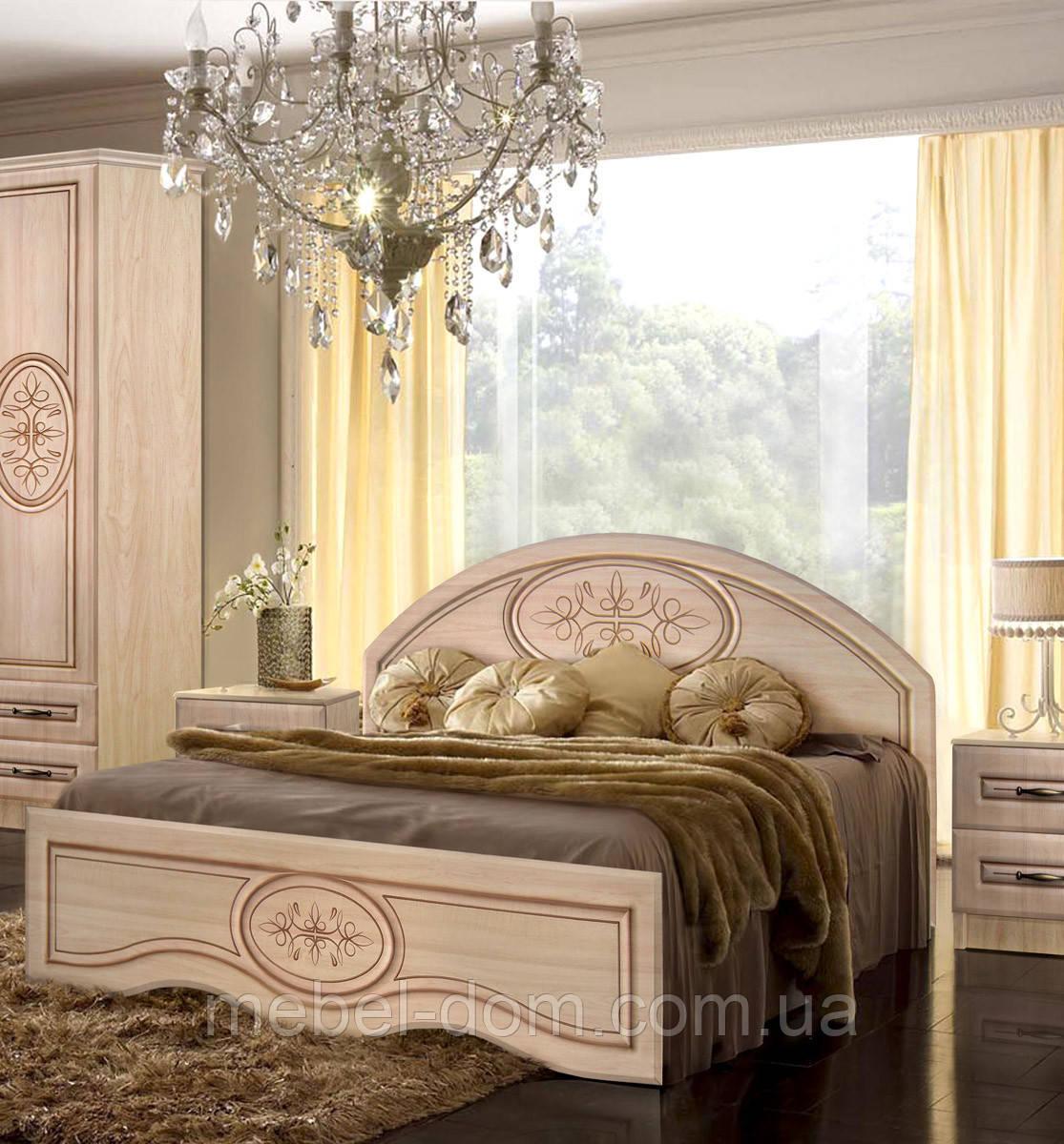 Кровать двуспальная Василиса без каркаса 1600/370 с низким изножьем
