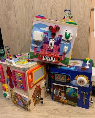 БизиКуб и бизиДом развивающие игры для малышей!!!