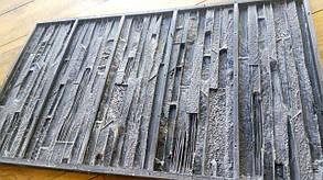 """Форма для декоративного камня и плитки """"Верона"""" на 5 плиток, резиновая, под сланец"""