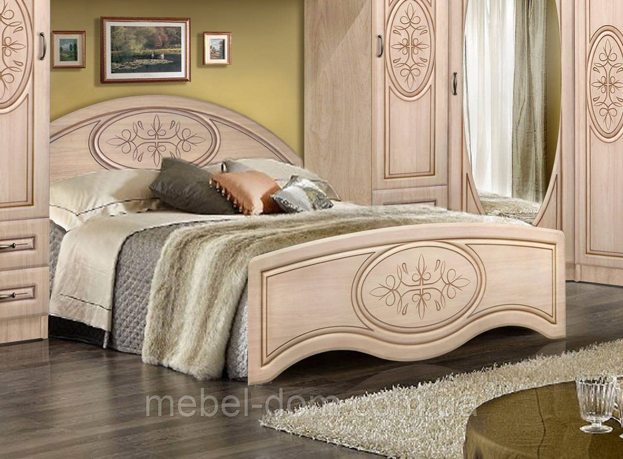 Кровать двуспальная Василиса без каркаса 1600/545 с высоким изножьем