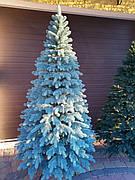 Элитная голубая 2.1м литая елка искусственная ель литая