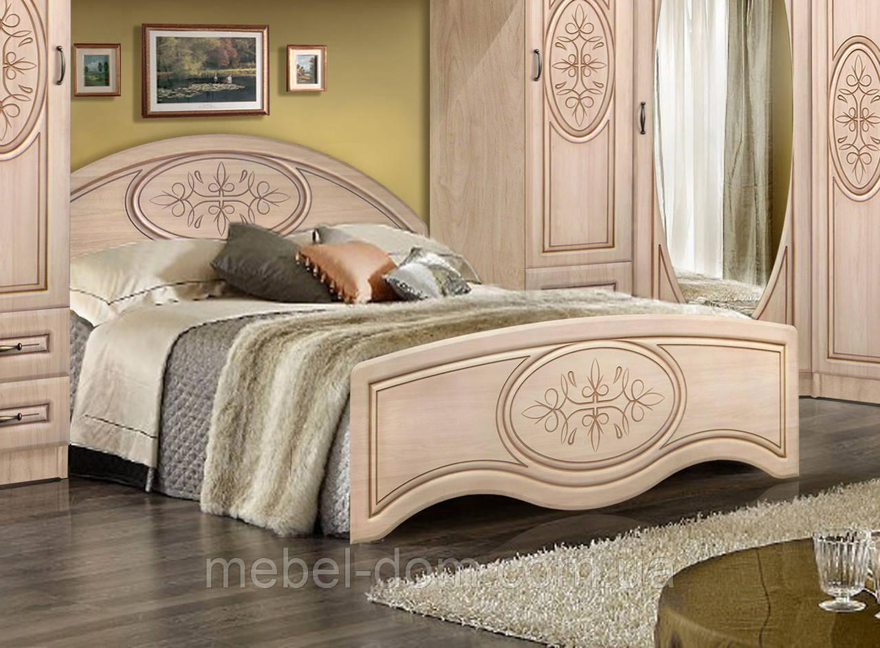 Кровать двуспальная Василиса без каркаса 1800/545 с высоким изножьем
