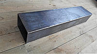 Труба прямоугольного дымохода, длинна 1 метр, черный металл 3 мм
