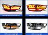 Диодные фонари LED тюнинг оптика Toyota Highlander XU 50 красные стиль 2, фото 2