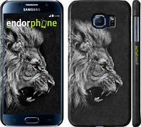 "Чехол на Samsung Galaxy S6 G920 Лев ""1080c-80"""