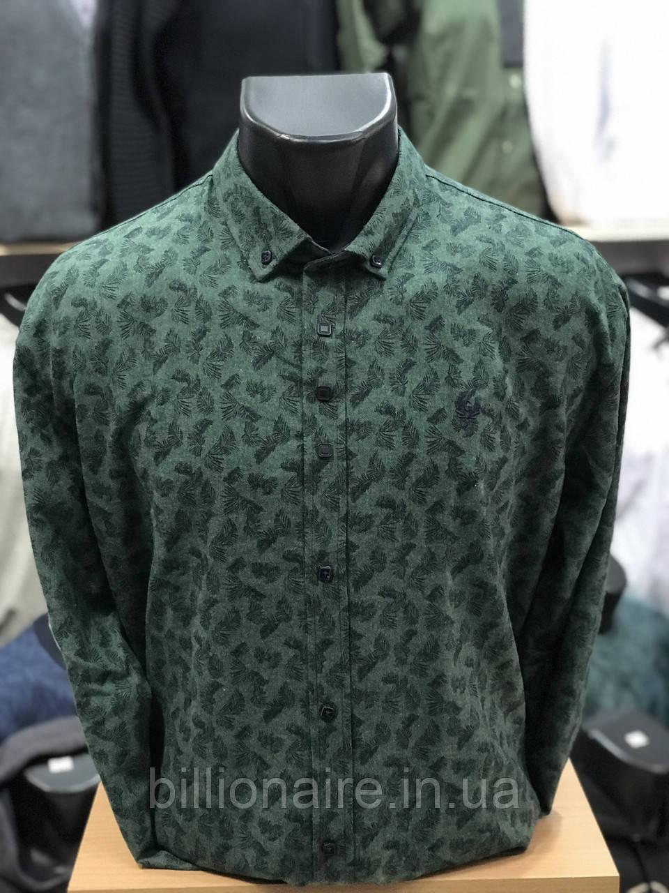 Сорочка утеплена Gold Milano Зелений