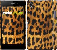 """Чехол на Sony Xperia Z1 C6902 Шкура леопарда """"238c-38"""""""