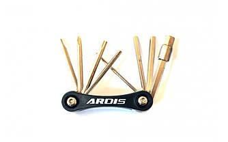 МУЛЬТИТУЛ ARDIS KL-9833C, 9 ЕЛЕМЕНТОВ, для ремонта велосипеда (Черный)
