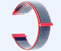 Нейлоновый ремешок Primo для часов Garmin Vivoactive 3 / Vivomove HR / Forerunner 245/645 - Neon Red, фото 1