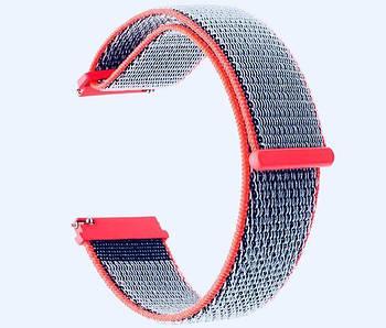 Нейлоновый ремешок Primo для часов Garmin Vivoactive 3 / Vivomove HR / Forerunner 245/645 - Neon Red