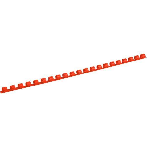 Пружина пластиковая Axent диаметр 8 мм (21-40 листов) 100 шт красная