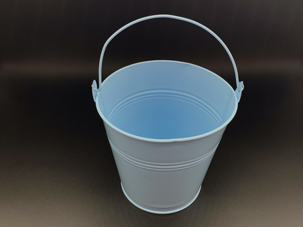 Декоративное ведро. Цвет голубой. 16х15см