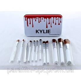 Кисти для макияжа Kylie 12 шт набор кистей кисточки 12 шт Белые