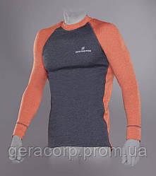 Футболка Tramp Outdoor Tracking Man с длинным рукавом мужская L серый/оранжевый