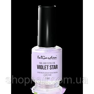 Сухе масло для нігтів і кутикули з блискітками and Nail cuticle oil Violet star 11мл