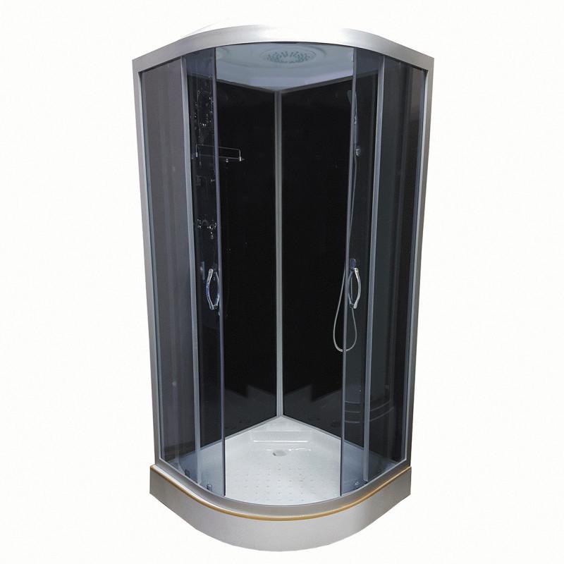 Душевой бокс Atlantis AKL 50 P-T ECO 90х90 см, поддон низкий, стекло тонированное, фото 1