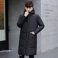 Зимняя куртка-пальто удлиненная, спортивная непромокаемая, утеплитель силикон. Подростковая, мужская до 56р