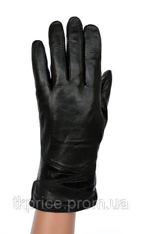 Женские кожаные зимние перчатки на натуральном меху, фото 2