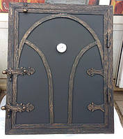 Кованные дверки для печи, мангала, барбекю
