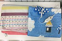 Электрическая простынь с подогревом electric blanket 150*120 см (синяя sky blue, разноцветная в полоску color)