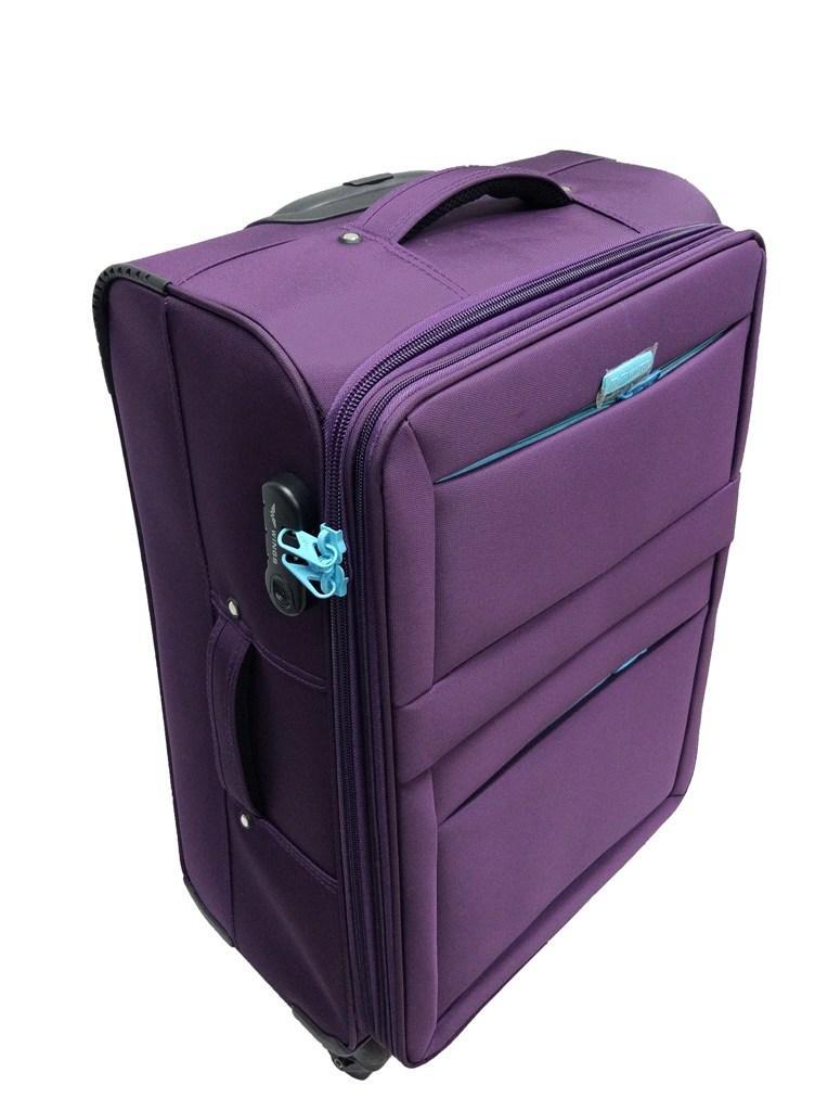 Чемодан большой  текстильный на 4-х колесах WINGS 2861  92 л. размер L фиолетовый