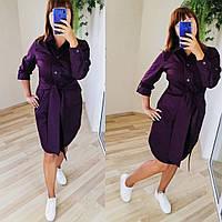 Женское модное платье - рубашка  ХЗ263 (бат), фото 1